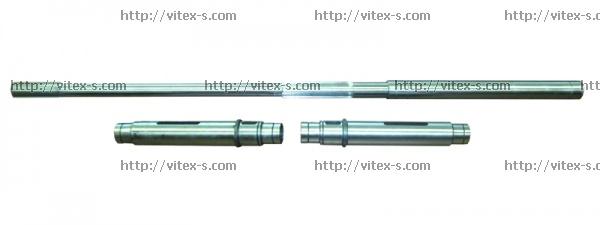 Шлицевой вал + 2 втулки (Nagema EU-7)